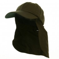 UV 45+ Zipper Flap Hats-Olive