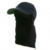 UV 45+ Zipper Flap Hats-Navy