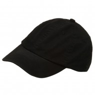Youth Washed Chino Twill Cap-Black