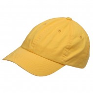Youth Washed Chino Twill Cap-Yellow