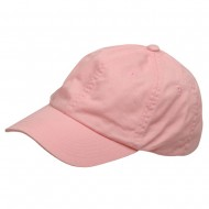Youth Washed Chino Twill Cap-Pink