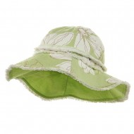 Print Canvas Ladies Hat-Lt Mint