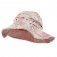 Print Canvas Ladies Hat-Lt Pink