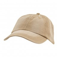 Low Profile Pine Stripe Cotton Washed Cap - Camel