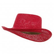New Gambler Straw Hats-Fuchsia