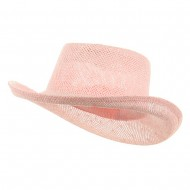 New Gambler Straw Hats-Pink