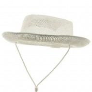 Child Ultra Straw Cowboy Hat-White