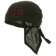 Embroidery Series Head Wrap-Chopper Red