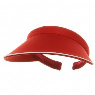 Piping Clip On Visor-Red