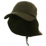 Microfiber Cap with Flap-Olive