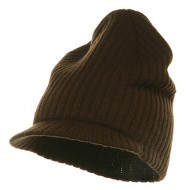 Striped Campus Jeep Cap - Brown