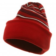 Reversible Fleece Beanie - Red