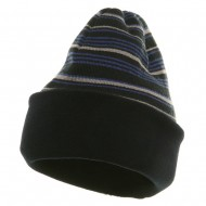 Reversible Fleece Beanie - Navy
