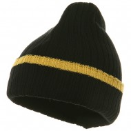 Knit with Cuff and Stripe - Black Gold