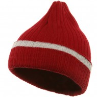 Knit with Cuff and Stripe - Red White