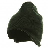 Acrylic Fleece Knit Beanies-Forest