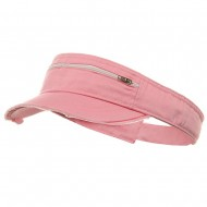Enzyme Washed Cotton Twill Visor-Pink
