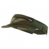 Enzyme Washed Cotton Twill Visor-Camo