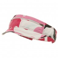 Enzyme Washed Cotton Twill Visor-Pink Camo