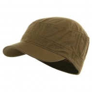 Fitted Cotton Ripstop Army Cap-Dk Khaki