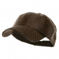 Diamond Plate Washed Cotton Cap - Brown