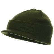 Youth Beanie Jeep Cap - Olive
