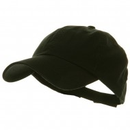 Low Profile Pet Spun Washed Cap - Black