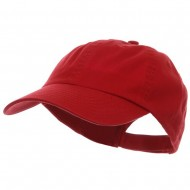 Low Profile Pet Spun Washed Cap - Red