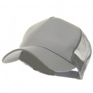 5 Panel Pet Spun Mesh Cap - Grey