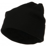 Big Size Fleece Beanie - Black