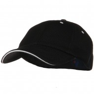 Deluxe Mesh Sandwich Bill Fitted Cap - Black White