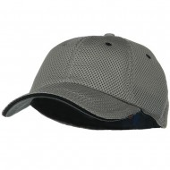 Deluxe Mesh Sandwich Bill Fitted Cap - Grey Black