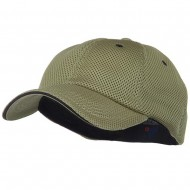 Deluxe Mesh Sandwich Bill Fitted Cap - Khaki Navy