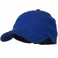 Light Brush Twill Fitted Cap - Royal
