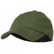 Light Brush Twill Fitted Cap - Olive
