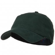 Light Brush Twill Fitted Cap - Dark Green