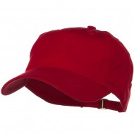 Low Profile Light Weight Brushed Cap - Red