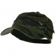Casual Style Camo Washed Pocket Cap - Tiger