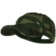 Casual Style Camo Washed Pocket Cap - Camo