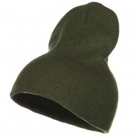 Stretch ECO Cotton Short Beanie - Olive