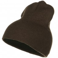 Stretch ECO Cotton Short Beanie - Brown