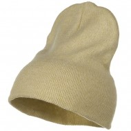 Stretch ECO Cotton Short Beanie - Beige