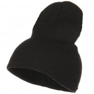 Stretch ECO Cotton Short Beanie - Black