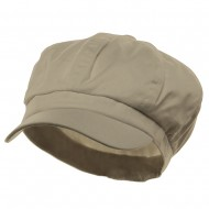 Cotton Elastic Newsboy Cap-Stone