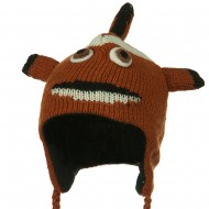 Adult Animal Wool Ski Beanie - Clown Fish