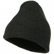 Fleece-Lined Plain Beanie - Charcoal