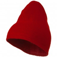 Rib Beanie with Bottom Band - Red