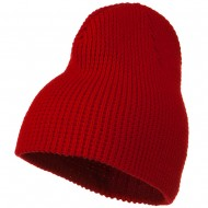 Big Stretch Waffle Stitch Short Beanie - Red