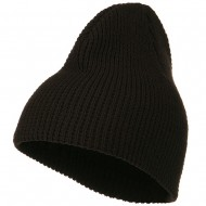 Big Stretch Waffle Stitch Short Beanie - Brown