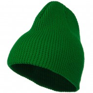 Big Stretch Waffle Stitch Short Beanie - Kelly
